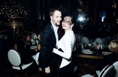 Оксана Лаврентьева и Александр Цыпкин на ужине Black & White Gala