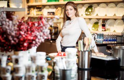 Саша Новикова на кулинарном завтраке