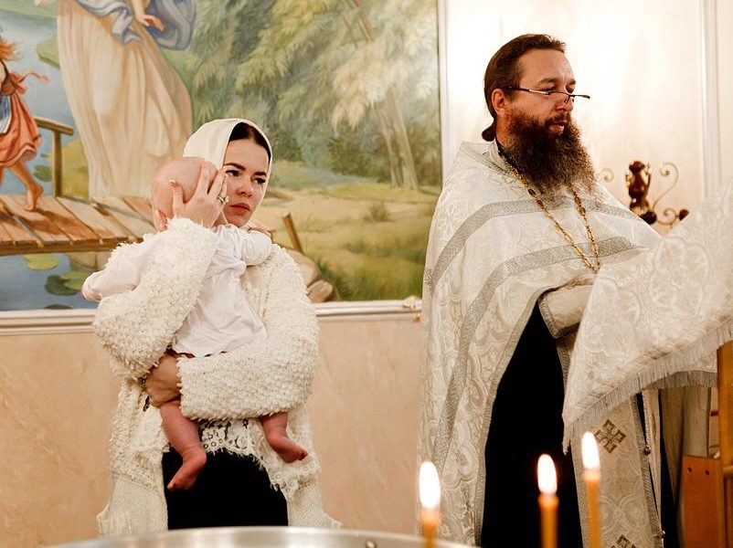 Елена Князева окрестила сына в Москве